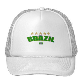 Brazil Logo 5 gold star cup winners tees and gifts Trucker Hat