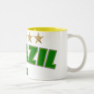 Brazil Logo 5 gold star cup winners tees and gifts Coffee Mug