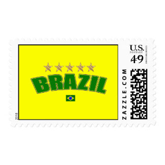 Brazil Logo 5 gold star cup winners tees and gifts Stamps