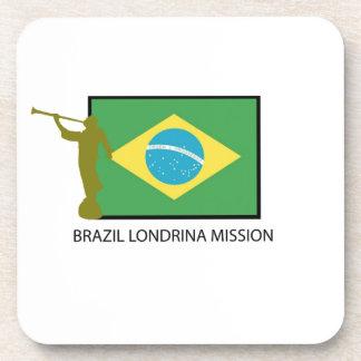BRAZIL LONDRINA MISSION LDS BEVERAGE COASTER