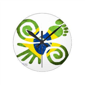 BRAZIL, LOVE, PEACE, LUCK, WWW.DRCHOS.COM,CURIOS, ROUND CLOCK