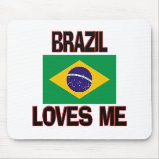 Brazil Loves Me Mouse Pads