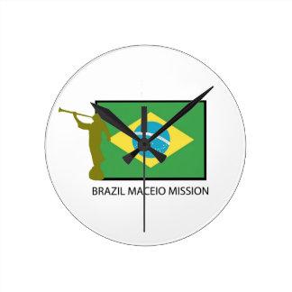 BRAZIL MACEIO MISSION LDS ROUND WALLCLOCKS