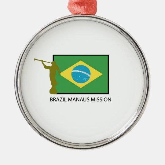 BRAZIL MANAUS MISSION LDS METAL ORNAMENT