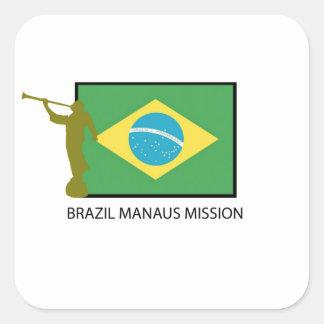 BRAZIL MANAUS MISSION LDS SQUARE STICKER