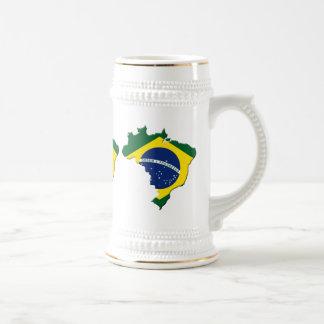 Brazil map beer stein