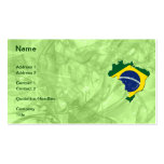 Brazil map Double-Sided standard business cards (Pack of 100)