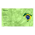 Brazil map business card templates