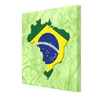 Brazil map canvas print