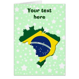 Brazil map card