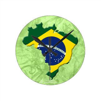 Brazil map wallclocks