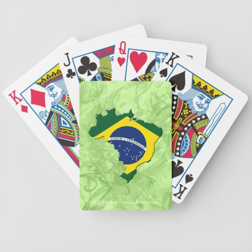 Brazil map deck of cards