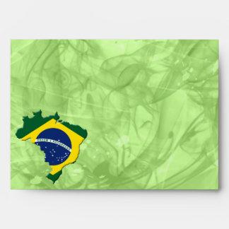 Brazil map envelope