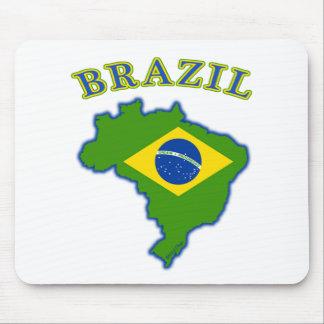 BRAZIl Map/Flag Mouse Pad