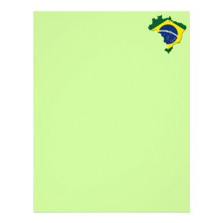 Brazil map letterhead