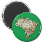 Brazil Map Magnet