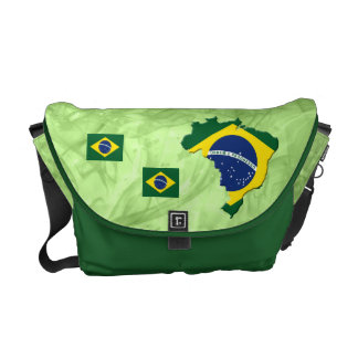 Brazil map courier bag