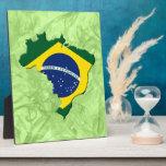Brazil map plaques
