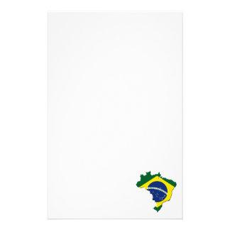 Brazil map stationery