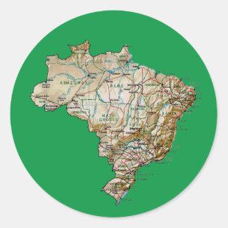 Brazil Map Sticker