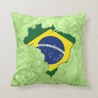 Brazil map throw pillow