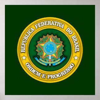 Brazil Medallion Poster