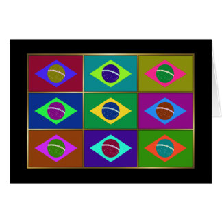 Brazil Multihue Flags Greeting Card