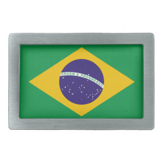 Brazil National Flag Rectangular Belt Buckle