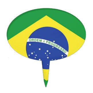 Brazil National Flag Cake Topper
