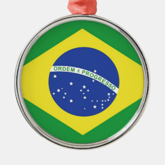 Brazil National Flag Metal Ornament