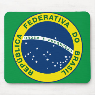 brazil national seal mouse pad