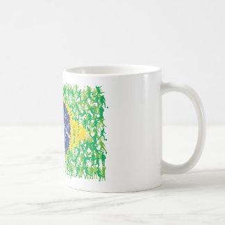 Brazil national soccer flag (Futebol Brasileiro), Coffee Mug