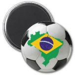 Brazil national team 2 inch round magnet