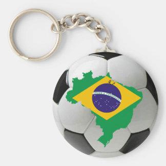 Brazil national team basic round button keychain