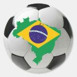 Brazil national team round stickers