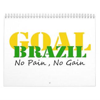 Brazil - No Pain No Gain Wall Calendar