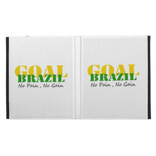 Brazil - No Pain No Gain iPad Folio Cover