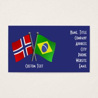 Brazil Norway Friendship Flags Business Card
