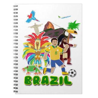 Brazil notepad notebook