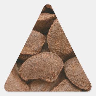 Brazil nuts triangle sticker