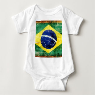 Brazil old flag baby bodysuit