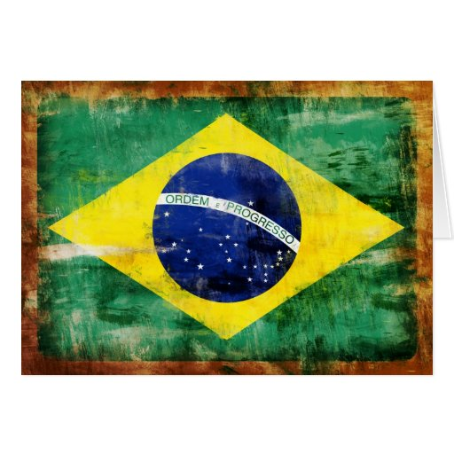Brazil old flag card