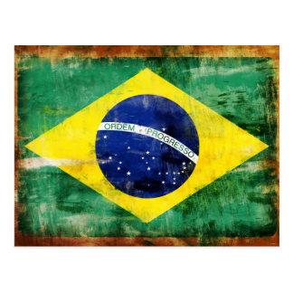 Brazil old flag post cards