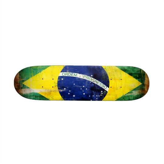 Brazil old flag skateboard deck