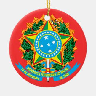BRAZIL*- ornamento del navidad/el Brasil Enfeite Adorno Redondo De Cerámica