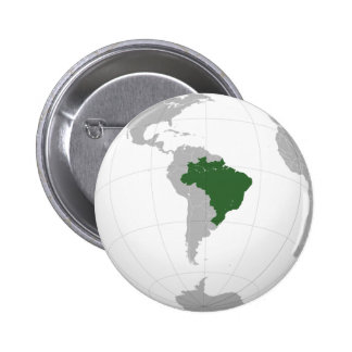 Brazil (orthographic projection) pinback button