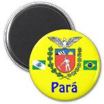 Brazil Para State Shirt Imán Redondo 5 Cm
