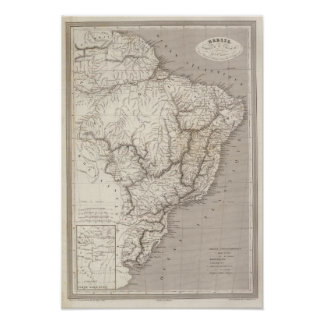 Brazil, Paraguay, and Uruguay Print