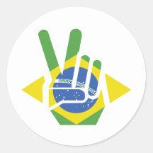 Brazil, Peace Stickers