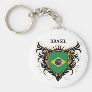 Brazil [personalize] basic round button keychain